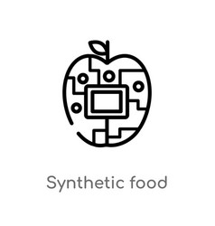 Outline synthetic food icon isolated black simple vector