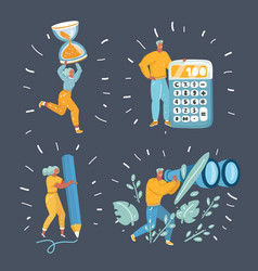 people working together in company vector image