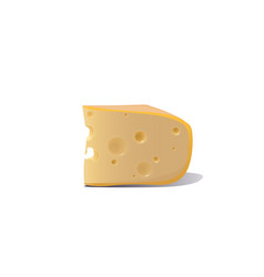 piece cheese isolated on white background vector image