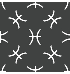 Pisces symbol pattern vector