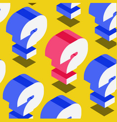 Question background isometric style vector