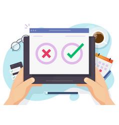 Questionnaire survey poll vote digital quiz online vector
