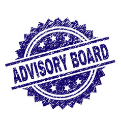 Scratched textured advisory board stamp seal vector