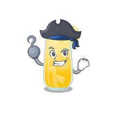 Screwdriver cocktail cartoon design in a pirate vector