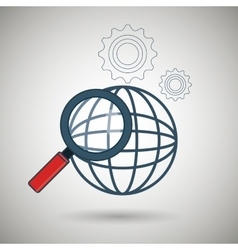 search global icon vector image