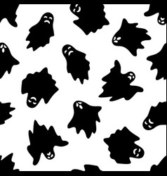 Set of halloween ghosts on white background vector
