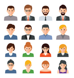 set people icons vector image