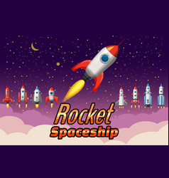 Set rockets collection start up launch assets vector