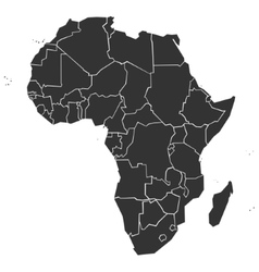 Simplified political map of Africa vector