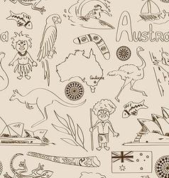 Sketch Australia seamless pattern vector image