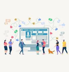 Social network site vector