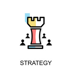 Strategy chess graphic icon vector
