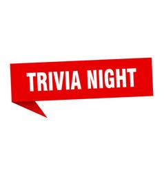 Trivia night speech bubble trivia night ribbon vector