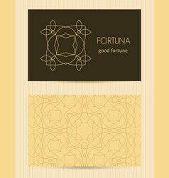 Two sided business card ornamental design vector