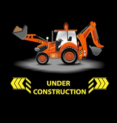 Under construction alert vector