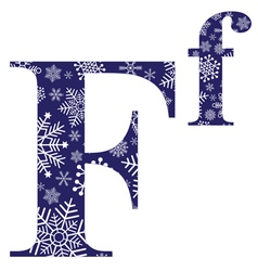 Uppercase and lowercase letters F vector image