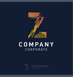 z company logo design with visiting card vector image