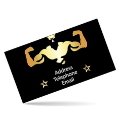 Business card for the gym vector image
