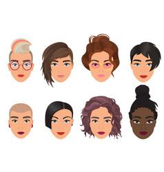 woman female avatar set vector image