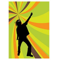 disco dancer vector image vector image