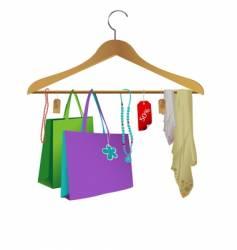 fashion clothes hanger vector image
