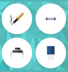 Flat icon appliance set of destination resistor vector