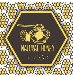 natural honey banners Bio hand drawn set vector image vector image