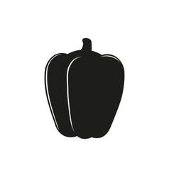 pepper logo bell on white vector image vector image