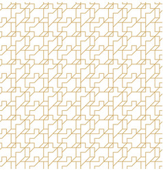 abstract geometric seamless pattern with lines and vector image vector image