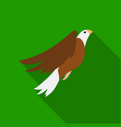 american eagle icon in flat style isolated on vector image