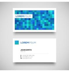 blue business card set vector image