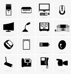 computer peripherals vector image