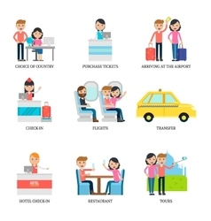 Family Vacation Infographic Concept vector image vector image