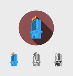hotel modern icon vector image vector image