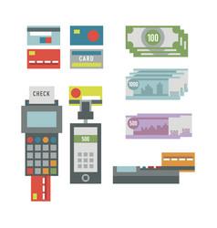 Atm payment card terminal vector