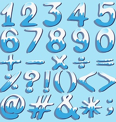 Colored numbers and symbols vector image