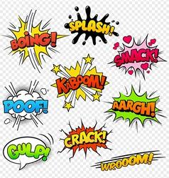 Comic Sounds set2 vector image vector image
