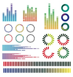 equalizers vector image vector image