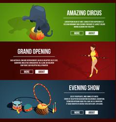 invitation to the circus magic show three vector image