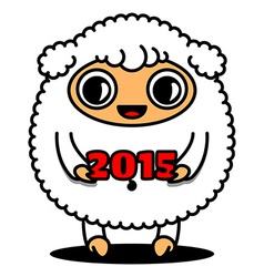 Sheep with 2015 sign vector image