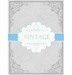 vintage framed background with label vector image vector image