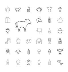 33 milk icons vector