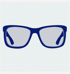 3d glasses icon on lined paper background vector image