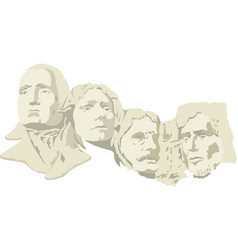 4 presidents at mount rushmore national memorial vector image