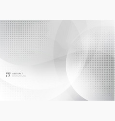 Abstract background white and gray curve circle vector