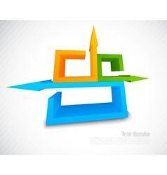Abstract background with 3d element vector image
