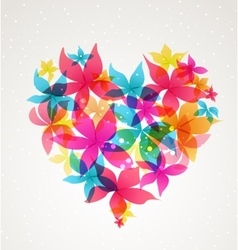 Abstract heart with flowers vector image
