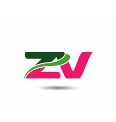 Alphabet z and v letter logo vector