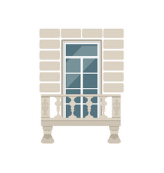 balcony with stone balusters vector image vector image
