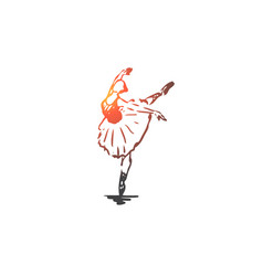 ballerina girl dance woman art concept hand vector image